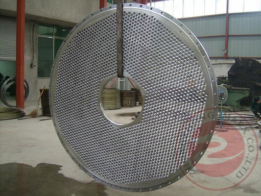 China Cylinder Cap Carbon Steel Forgings Rough Machining , 20MnMoNb Alloy Steel Tube Sheet Plate distributor